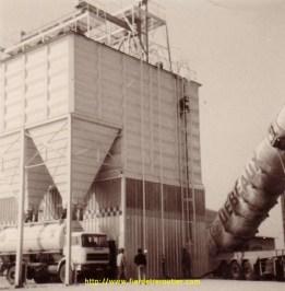 Déchargement dans un silo à grains