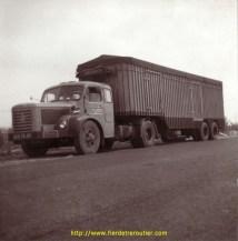 1962 apparait l'un des premiers Berliet TLM 10 semi remorque de la maison