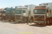 Sur le parking TIR à Tanger avec les Avon.