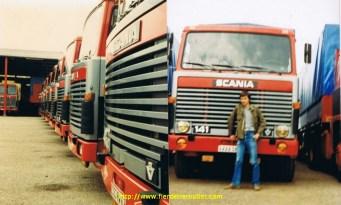 Devant mes premiers Scania 140 et 141 des transports Reinbold 67.