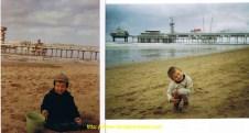 40 ans séparent ces deux photos de Louis et son papa en Hollande à La Haye.