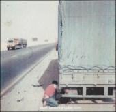 Xavier, décédé aujourd'hui. En 1984, il bricole sur une route du Koweit