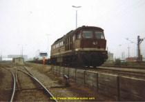 Sur le train entre la DDR et la Tchécosclovaquie avec mon 143.500