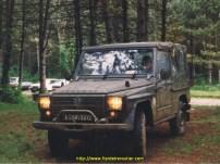 Essai de la Peugeot P4 en forêt