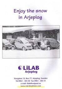Nos smart en pub au cercle polaire en Suède