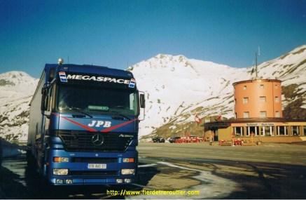 Col du Simplon (San Plon) entre l'Italie et la Suisse à 2005m d'altitude