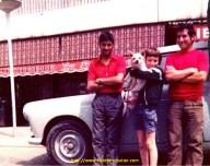 Avec Antonio, Matos et mes 2 premiers copains chauffeur TP en DAF et Tarzan