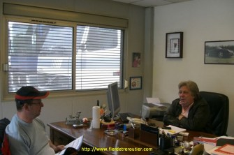Jean-Pierre et Michel au bureau