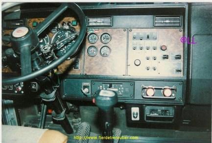 Intérieur du T 600.