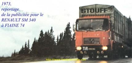 1973 Reportage publicitaire pour le SM 340