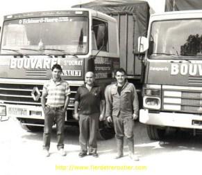 La famille Bouvarel au grand complet : Jean-loup, Jean, Christophe, ainsi qu'un R310 et un TR 280