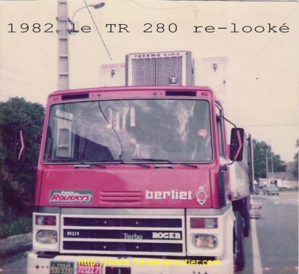 Le TR280 après réfection. Cette fois là, nous étions à Chateaurenard, le TR 280 était en rodage.