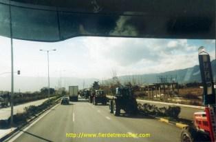 Grève des paysans en Grèce.