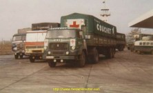 A la frontière Bulgare, c'est l'UNIC IZOARD qui ouvre le convoi à destination de Téhéran en novembre 1968.