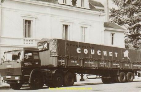 Afin d'avoir le droit de charger à 38T, Couchet achète 4 Henshell 6*4/4