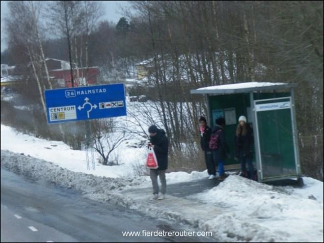 Bizarrement ici, personne ne casse les vitres des abris bus