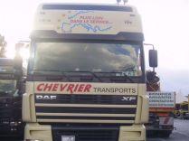 Eh oui CHEVRIER emploie 4 conductrices, ici VERO au port d'ANCONE