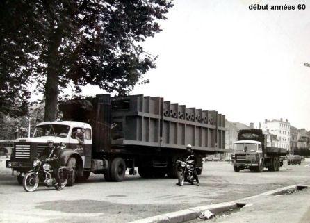 Convoi exceptionnel BERLIET TLM10 ET SAVIEM JL20 6 ROUES Début années 60