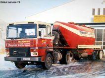 BERLIET TR300 V8 Début années 70 Citerne transport chlorate pour RFA