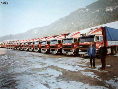 1985 Les 2 Frères CHEVRIER devant la flotte en hiver!! Nouveau parking