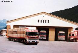 Fin années 80 DAF95 et RENAULT R380 sur le site de LA TOUR 74