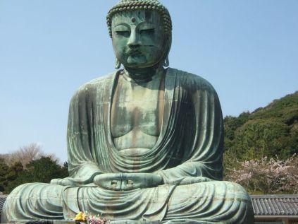 Bouddha géant, le bouddhisme est la religion d'environ 90% des Japonais