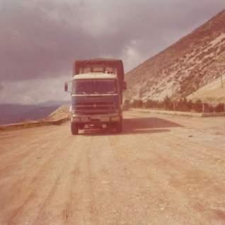 Le camion de Max en haut du col, après Adana, direction la Syrie.