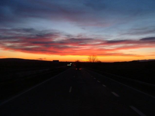 Et voila le soleil se couche sur ce merveilleux tour...
