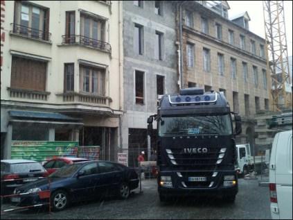 un chantier en plein centre ville de Rodez