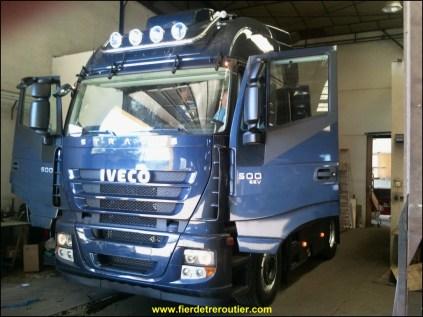 le nouveau tracteur à Xav en pleine préparation