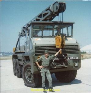 moi à l'armée en 1976