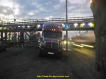camion à l'entree de Moscou