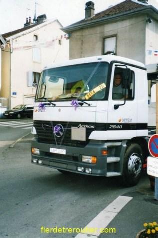 En 2004....nous avons marié Notre petit fabrice , alors vehicule propre et un petit tour Pour lui rendre un petit hommage !!