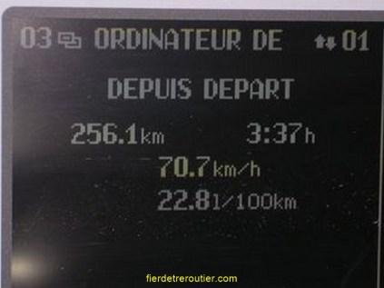 totalisateur journalier, vitesse moyenne et consommation aux 100 kms