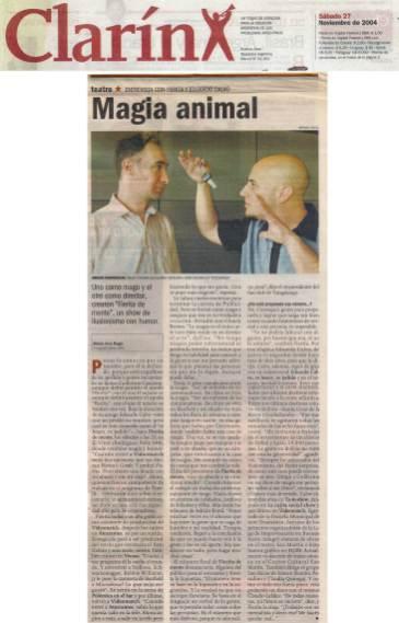 Magia Animal - Clarín 27/11/04