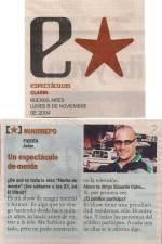 Un Espectáculo de Mente - Clarín 8/11/04