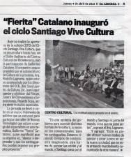 Fierita Inaugura Santiago Vive Cultura - El Liberal 4/4/13