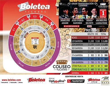"Boletos ""Coliseo Yucatán"""