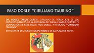 "Pasodoble ""Cirujano Taurino"""
