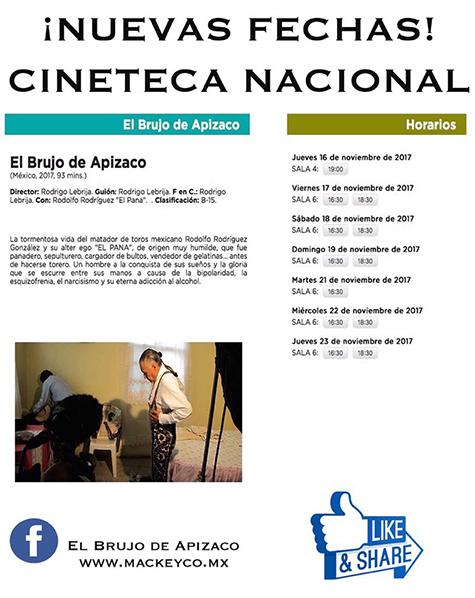 """""""El Brujo de Apizaco"""", continúa en la Cineteca Nacional"""