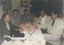 """Sobremesa al término de una edición del Programa """"Fiesta Brava""""®, acompañados del Ing. Antonio Macías López (su hermano de la vida) –Ganadero """"Monteverde""""-, el Maestro Joselito Huerta y el Matador Jaime Rangel"""