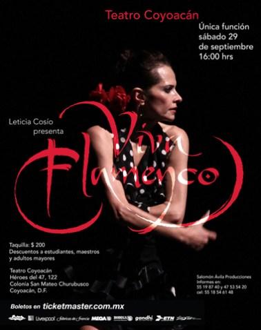 ¡Viva Flamenco! en el Teatro Coyoacán