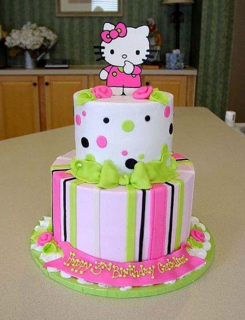 Ideas de decoracion de torta hello kitty - Decoracion hello kitty ...