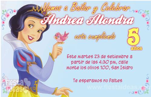 Invitaciones Blanca Nieves