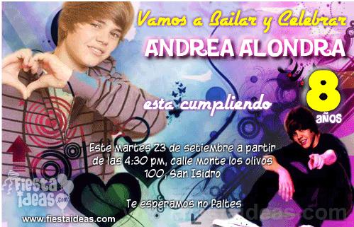 cumpleaños de Justin Bieber