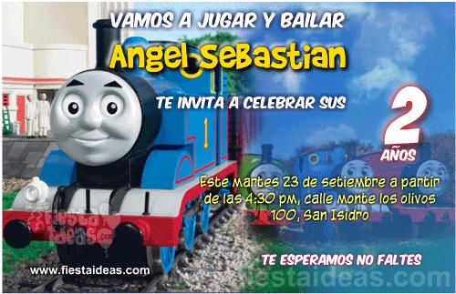 Invitaciones de Thomas y sus amigos para imprimir