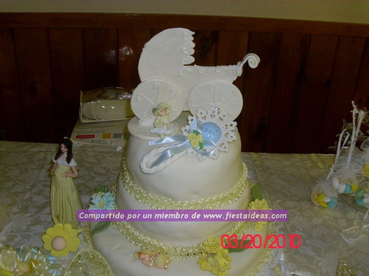 Decoraci n de torta baby shower galer a 1 for Decoracion espejo en tortas