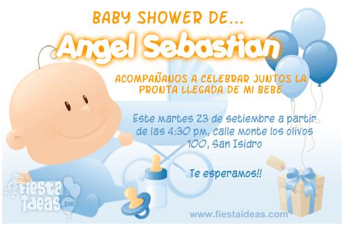 invitaciones baby shower con globos celestes