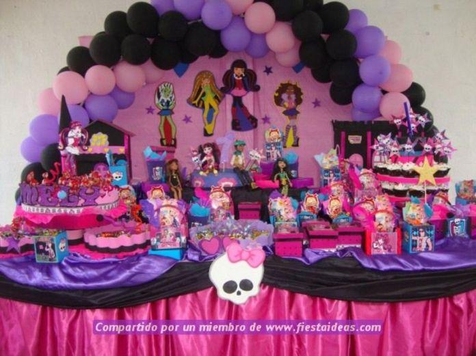 galeria de fotos decoracion de Monster High