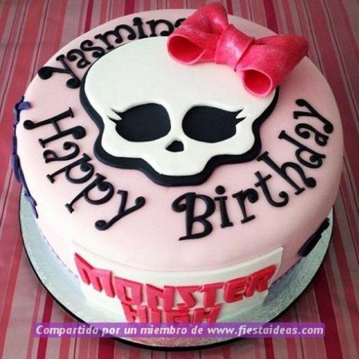 ideas de decoracion de tortas de Monster High